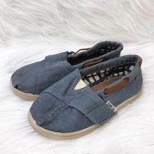 TOMS Bimini Chambray Slip On Shoes 9T
